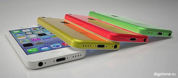 iPhone 5C цвета
